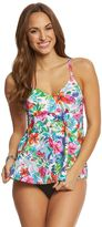 Penbrooke Birds Of Paradise VNeck Tankini Top - 8150427