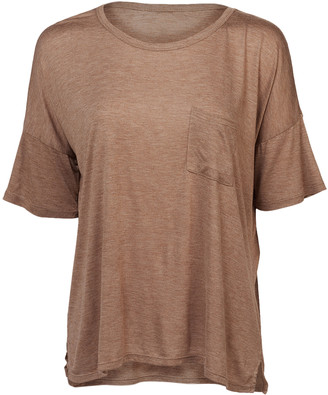 Forever 21 Women's Blouses Tan - Tan Pocket Tee - Women