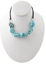 Barse Leather & Magnesite Collar Necklace