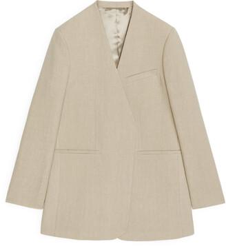 Arket Oversized Linen Blazer