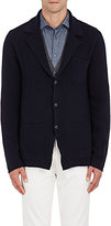 Boglioli Men's Rib-Knit Cardigan-NAVY