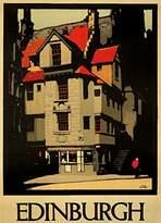Edinburgh Vintage Poster (artist: Fred Taylor) United Kingdom c. 1930 (9x12 Collectible Art Print, Wall Decor Travel Poster)