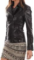 London Craze LondonCraze Women Stylish Slimfit Lambskin Moto Biker Leather Jacket WJ 135 XS