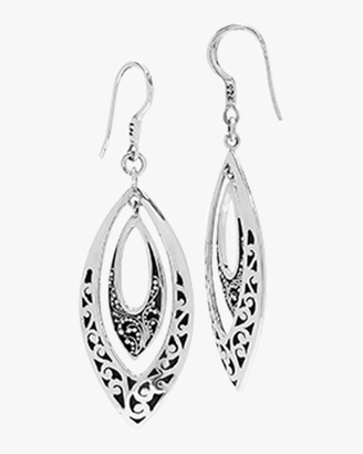 Lois Hill Classic Carved Scroll Marquis Drop Earrings