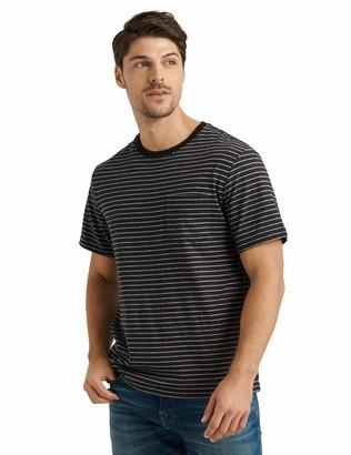 Lucky Brand Men's Short Sleeve Crew Neck Stripe Pocket Tee