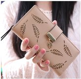 Topda123 Women's Long Wallet E;egant Hollow Leaf Card Holder Purse Clutch