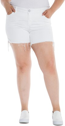SLINK Jeans Frayed Hem Denim Shorts