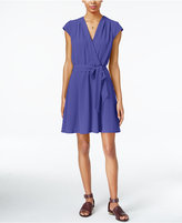 Maison Jules Cap-Sleeve Wrap Dress, Only at Macy's
