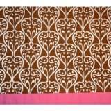 Bacati Damask Pink and Chocolate Window Valance