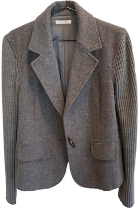Sand Grey Wool Jacket for Women