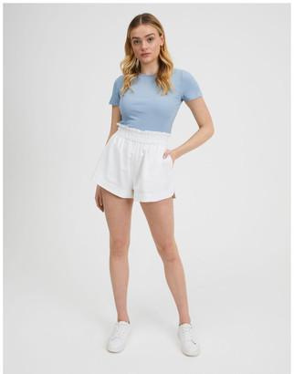 Miss Shop Paper-Bag Linen Blend Shorts
