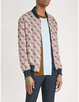 Fendi Reversible logo-print silk bomber jacket