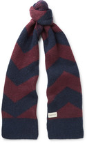 Oliver Spencer Selby Colour-Block Wool-Blend Scarf