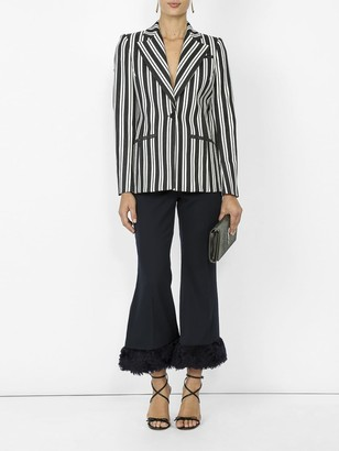 Altuzarra Acagia Belted Striped Blazer