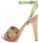 Just Cavalli Embossed Bicolor Sandals
