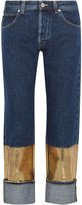 Loewe Metallic-coated Boyfriend Jeans - Dark denim