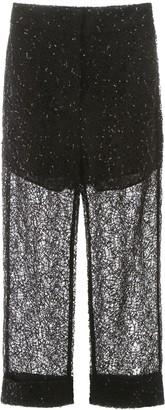 Self-Portrait Sequin Lace Pants