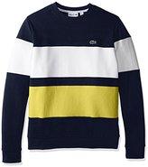 Lacoste Men's Long Sleeve Color Block Fleece Sweatshirt
