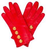 Escada Embellished Leather Gloves