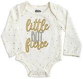 Mud Pie Baby Girls Newborn-6 Months Dotted Little But Fierce Bodysuit