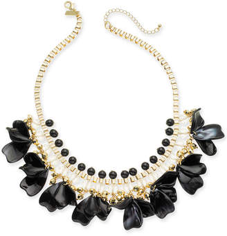 "INC International Concepts Inc Gold-Tone Petal Shaky Statement Necklace, 18"" + 3"" extender"