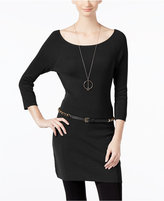 INC International Concepts Belted Tunic Sweater, Only at Macy's