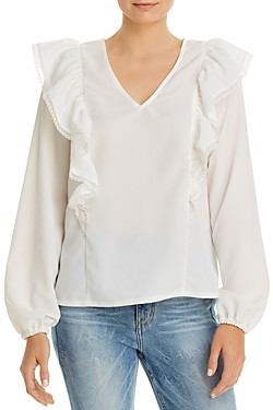 Vero Moda Ruffled Lace Trim Top
