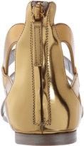 Giuseppe Zanotti Metallic Flat Gladiator Sandal