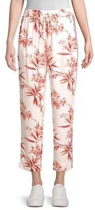 Joie Quisy Cropped Floral Stripe Pants
