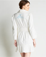Betsey Johnson Mrs. Embroidered Bridal Terry Robe