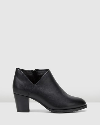 Hush Puppies Women's Black Heeled Boots - Shanty - Size One Size, 9 at The Iconic