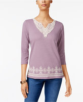 Alfred Dunner Embroidered Top