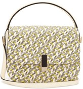 Valextra Iside Xy-print Leather Cross-body Bag - Womens - Yellow Multi