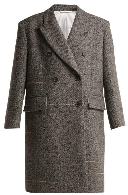 Calvin Klein Oversized Double Breasted Wool Blend Coat - Womens - Grey