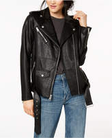 Levi's Belted Faux-Leather Moto Jacket