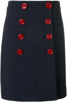 Burberry double breasted skirt - women - Polyester/Spandex/Elastane/Viscose - 8