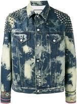 Gucci washed studded denim jacket - men - Cotton/Polyester/Acrylic/Viscose - 48