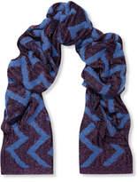 Missoni Metallic Crochet-knit Wrap - Purple