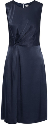 Iris & Ink Emu Twisted Satin-crepe Dress