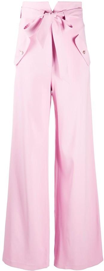 Temperley London Wide-Leg Tie-Fastening Trousers