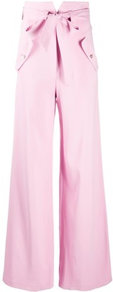 Temperley London Wide-Leg Tie-Fastening Trousers