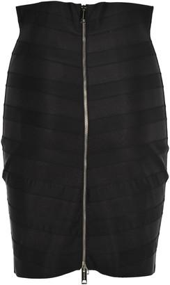 Burberry Zipped Bandage Mini Skirt