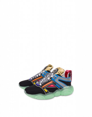 Moschino Basket Teddy Shoes Sneakers Man Multicoloured Size 39 It - (6 Us)