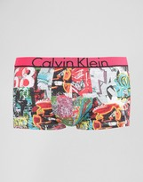 Calvin Klein Low Rise Trunks Microfibre Graffiti