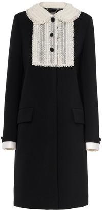 Miu Miu Single-Breasted Lace Collar Coat
