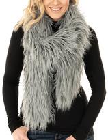 Donna Salyers' Fabulous Faux Furs Donna Salyers' Fabulous-Faux Furs Women's Cold Weather Scarves Silve - Silver Blue Faux Fur Glam Scarf - Women