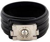 Chanel CC Leather Cuff Bracelet