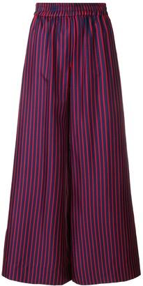 La DoubleJ Striped Flared Trousers
