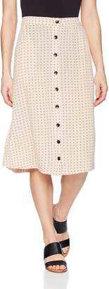 Volcom Junior's Get to Steppin Midi Length Front Button Skirt