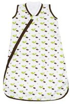 JJ Cole Wearable Blanket, Green Birds, 0-6 Months (Discontinued by Manufacturer) by